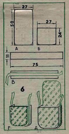 Одеваемся со вкусом.  Выкройка мужской сумки .  Кройка, шитье, вязание - способы и приемы.