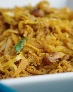 chou noix-de-coco et épices recette végétarienne de chez Pankaj