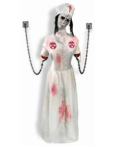 Convulsing Nurse - New prop at Spirit Halloween 2013 : super excited !!! Our nurse just arrived in the mail the other day - perfect bday present for my hubby !!!!