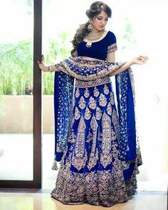 Indian Royal Blue Wedding Dress