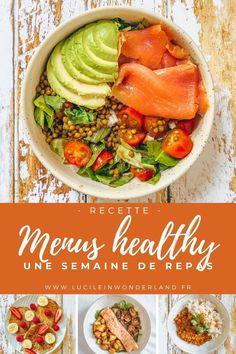 Menus Healthy, Healthy Diners, Healthy Chicken Recipes, Healthy Breakfast Recipes, Easy Healthy Recipes, Healthy Cooking, Easy Meals, Healthy Eating, Dinner Healthy