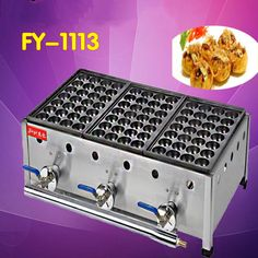 1 PC FY-1113 Three board gas furnace fish balls Commercial octopus small meatball machine baking pan #Affiliate