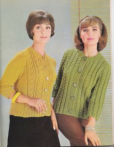 VINTAGE KNITTING MAGAZINE Cable Knits For Men and by HazelCatkins
