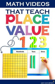 This is a great collection of math videos that help to teach our students place value. They can be a great introductory video to enrich the lesson or even watched prior to math centers or guided math time. Place Value Song, Math Place Value, Place Values, Place Value Centers, Math Resources, Math Activities, Math Games, Math Songs, Place Value Activities