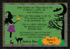 143 best halloween baby shower invitations images on pinterest custom halloween baby shower invite invitation diy print filmwisefo