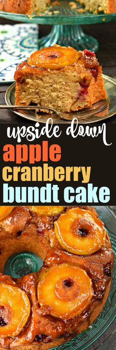 Welcome Fall with this Apple Cranberry Upside Bundt Cake recipe. Move over pineapple cake, there's a new twist to a classic recipe just in time for the holidays!
