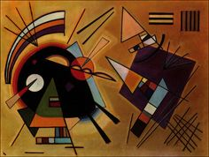 Painter Wassily Kandinsky. Painting. Black and Violet. 1923