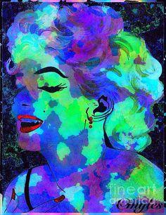 Marilyn Monroe Watercolor: art by Saundra Myles