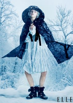 """FAERIE TALE"" ELLE Canada December 2014 Issue. Styled by Fritz Photographs by Leda & St. Jacques Art direction by Denis Desro"