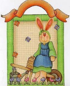 Gran huevo de Pascua Chica//conejo//Vinilo cubierta de tabla