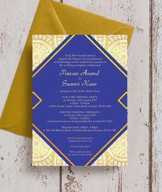 Asian grandeur wedding invites