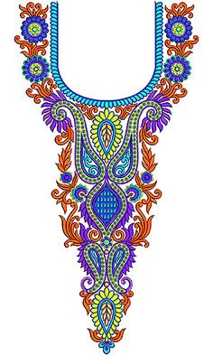 Long Neck Embroidery Design