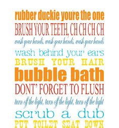 Bathroom Subway Art. Free Printable.