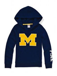 Victoria's Secret PINK University of Michigan Split Neck Hoodie #VictoriasSecret http://www.victoriassecret.com/pink/university-of-michigan/university-of-michigan-split-neck-hoodie-victorias-secret-pink?ProductID=71220=OLS?cm_mmc=pinterest-_-product-_-x-_-x