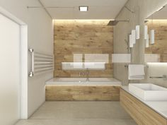 SAND bathroom design | Lowered ceiling is backlit by the warm LED light | by CADFACE