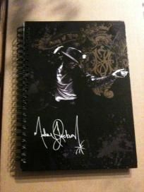 $3.00 Small Michael Jackson Perforated Sheet Notebook