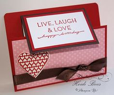 Stuck on Stampin': Valentine's Treats - just for fun! Different take on the joy fold card.