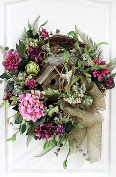 Elegant Country Wreath Front Door Wreath Rustic by FloralsFromHome, $154.00