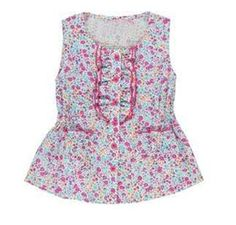 Girls' top floral size: 7-14 years Affordable Fashion, Floral Tops, Kid, Womens Fashion, Girls, Shopping, Child, Toddler Girls, Top Flowers