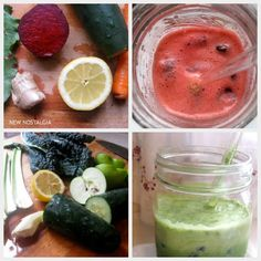 2 Great Juicing Recipes--The Mean Green & Beet Rejuvenator. Plus, Breast Reconstruction Results --A Health Update From New Nostalgia. #juicing #immunity #breastcancer