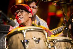 Pedrito Martinez on stage at TED2013, Photo: James Duncan Davidson