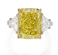 A beautiful 8.19 carat Fancy Vivid Yellow VS2 diamond sold for $425k in total or $51.9k per carat. This leaves its new owner with some value, so this was a smart acquisition for them even though it included a buyer's premium. Sotheby's NY - Dec. 9, 2014