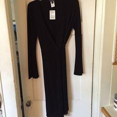 Bebe Black Wrap Dress