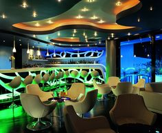 World class Amathus beach hotel Paphos in features a fabulous selection of accommodation. Beach Hotels, Hotels And Resorts, Luxury Hotels, Club Design, Paphos, Bar Lounge, Commercial Design, Interior Lighting, Cyprus
