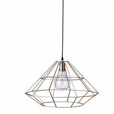 Een veel terugkomende vorm bij de collectie van Bloomingville is deze hanglamp in diamantvorm. Mooi, stoer en transparant!  materiaal: met...