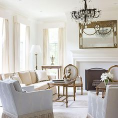 Saw Greek Villa wall color Bright, White, and Inviting Family Home