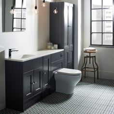 Burford Slate Grey Fitted Bathroom Furniture | Roper Rhodes