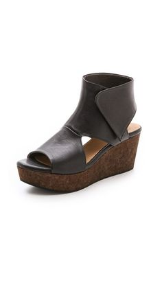 14564a889ac Coclico Shoes Mind Wedge Sandals Black Wedge Sandals