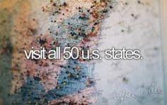 "along with the ""travel the world"" thing, I wanna travel my very own country. so far? 24/50. Washington, Oregon, California, Idaho, Montana, Wyoming, North Dakota, South Dakota, Minnesota, Wisconsin, Nevada, Arizona, Pennsylvania, Virginia, Maryland, Florida, District of Columbia… Utah, Nebraska, Iowa, Missouri, Illinois, Kentucky, Tennessee, Georgia."
