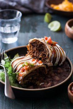 Easy Crock Pot Shredded Beef Chimichanga Recipe
