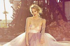 Blush Sweetheart Strapless Floor length Tulle Wedding by ouma