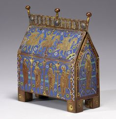 Reliquary Chasse with the Adoration of the Magi. French (Limoges). ca. 1220.  Copper gilt, enamel (champlevé),   Walters Art Museum. ToH 184.X