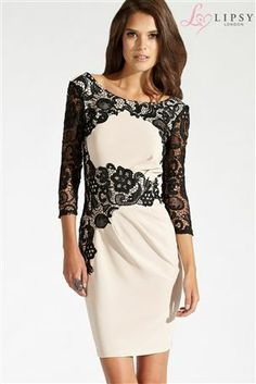 01c98353af3d Buy Lipsy Lace Sleeve Silhouette Dress from the Next UK online shop Dress  Silhouette