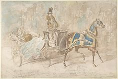 Constantin Guys (French, 1802–1892). Winter Drive, 19th century. The Metropolitan Museum of Art, New York. Rogers Fund, 1937 (37.165.95)