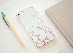 ballpen, case, cellphone, cherry blossom, design, flowers, girl, iphone, iphone case, pink, pretty, sakura