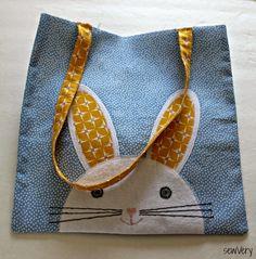 sewVery: Bunny Face Bag Tutorial