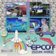 {Community of Tomorrow} Digital Scrapbook Collection by Magical Scraps Galore, available at Gingerscraps and The Digichick  http://store.gingerscraps.net/Magical-Scraps-Galore/  http://www.thedigichick.com/shop/Community-of-Tomorrow-collection.html     #magicalscrapsgalore  #disney #scrapbooking