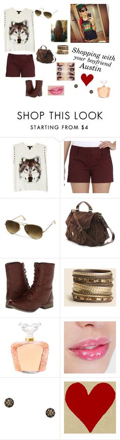 """""""Shopping with Austin"""" by prabhleen21 ❤ liked on Polyvore featuring Forever 21, Daisy Fuentes, Ray-Ban, Proenza Schouler, Skechers, Lalique and Sethi Couture"""