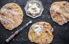 Bataattirieskat / Flatbread made from sweet potatoes Camembert Cheese, Sweet Potato, Potatoes, Baking, Garden, Kitchen, Food, Cuisine, Garten