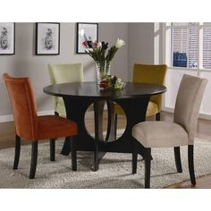 Coaster Castana Round Dining Table with Crossing Pedestal Base - Coaster Fine Furniture Square Dining Room Table, Round Dining Set, Dining Table In Kitchen, Dining Room Sets, Dining Area, Kitchen Sets, Round Kitchen, Coaster Fine Furniture, Dining Room Furniture