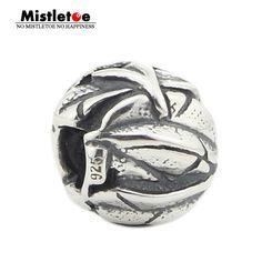 Mistletoe Genuine 925 Sterling Silver Angel's Feathers Charm Bead Fits European Brand 3.0mm Bracelet Jewelry #Affiliate
