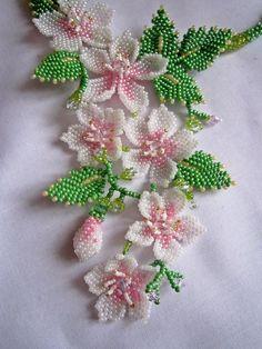 """Колье """"Веснянка""""   biser.info - всё о бисере и бисерном творчестве - Necklace """"Vesnyanka""""   biser.info - all about beads and beaded works"""