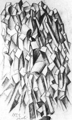 Drawings - Cubist Composition (Shapes), 1922