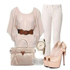 Stylish Pale Pink Casual Outfit ▶suggested by ~Sophistic Flair~