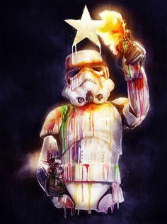 Graffiti Stormtrooper - Star Wars