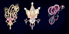 Adoptable Brooches -CLOSED- by Dornenspieler on DeviantArt Anime Weapons, Fantasy Weapons, Fantasy Jewelry, Fantasy Art, Character Inspiration, Character Design, Lizzie Hearts, Magic Bottles, Magical Jewelry